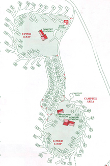 Alabama39s DeSoto State Park Map